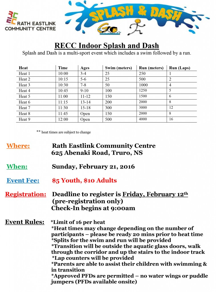 RECC Indoor Splash and Dash 2016